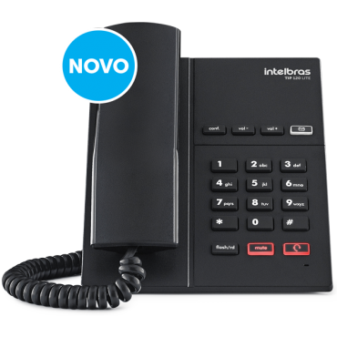 Telefone Ip Voip HD Voice Tip 120 Lite Intelbras