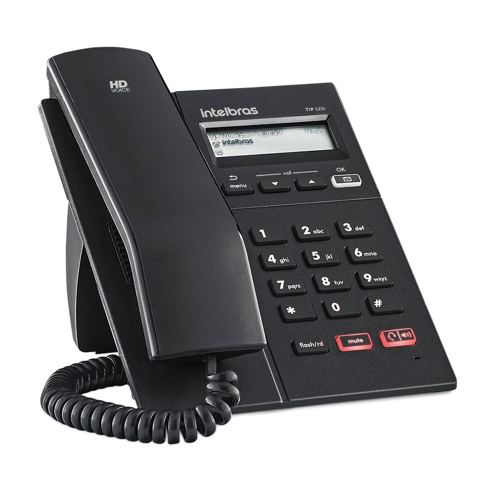 Telefone Ip Voip Intelbras Com Display Gráfico TIP 125 i Intelbras