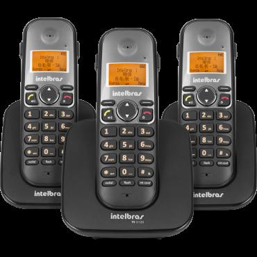 Telefone Sem Fio Com 2 Ramais Adicionais TS 5123 Intelbras