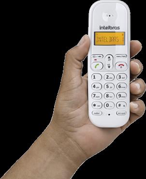Telefone Sem Fio Com Identificador de Chamadas Branco e Vermelho TS 3110 - Intelbras