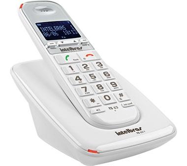 Telefone Sem Fio Com Ident Chamada TS 63 V Branco Intelbras