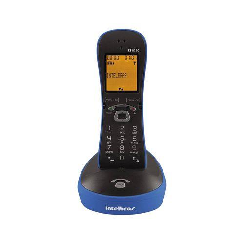 Telefone Sem Fio Com Design Exclusivo Azul TS 8220 - Intelbras
