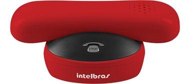 Telefone Sem Fio Identif Chamada Vermelho TS 8220 Intelbras