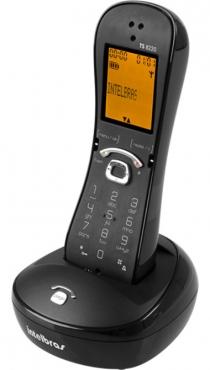 Telefone Sem Fio Identif Chamada Cor Preto TS 8220 Intelbras