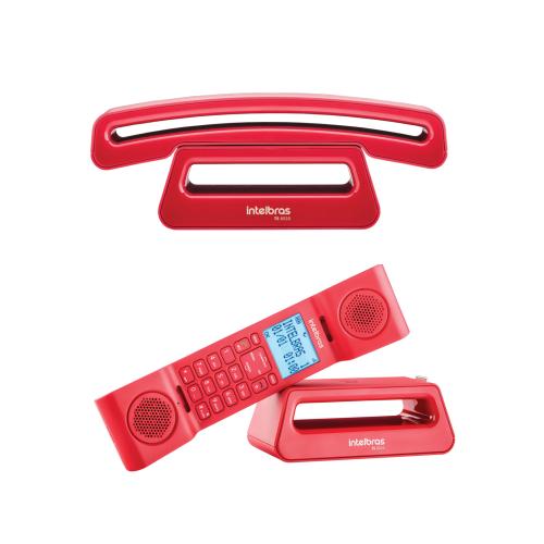 Kit Telefone Sem Fio Com Design Exclusivo TS 8520 + 1 Ramal Intelbras