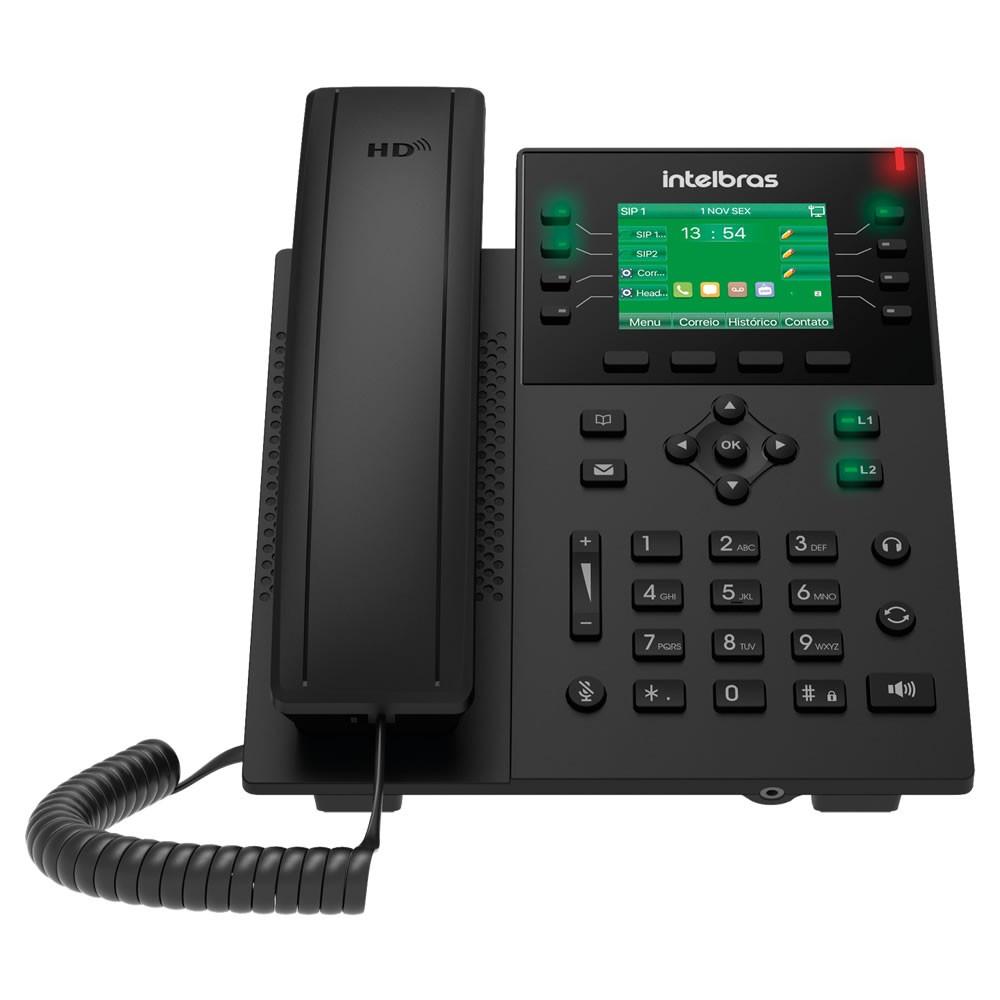 Telefone IP Voip 12 Contas SIP PoE c/Display Colorido e Bluetooth V5502 Intelbras