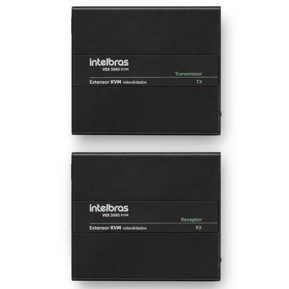 Extensor Vídeo e Dados KVM VEX 3060 KVM Intelbras