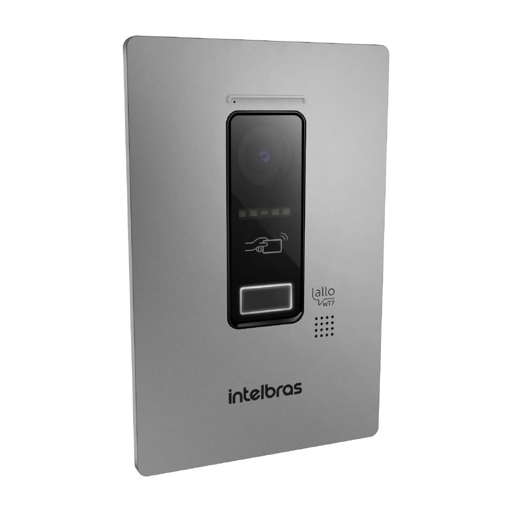 Videoporteiro Wi-Fi Wireless Sem Fio Atendimento via Aplicativo Smartphone Allo wT7 Intelbras