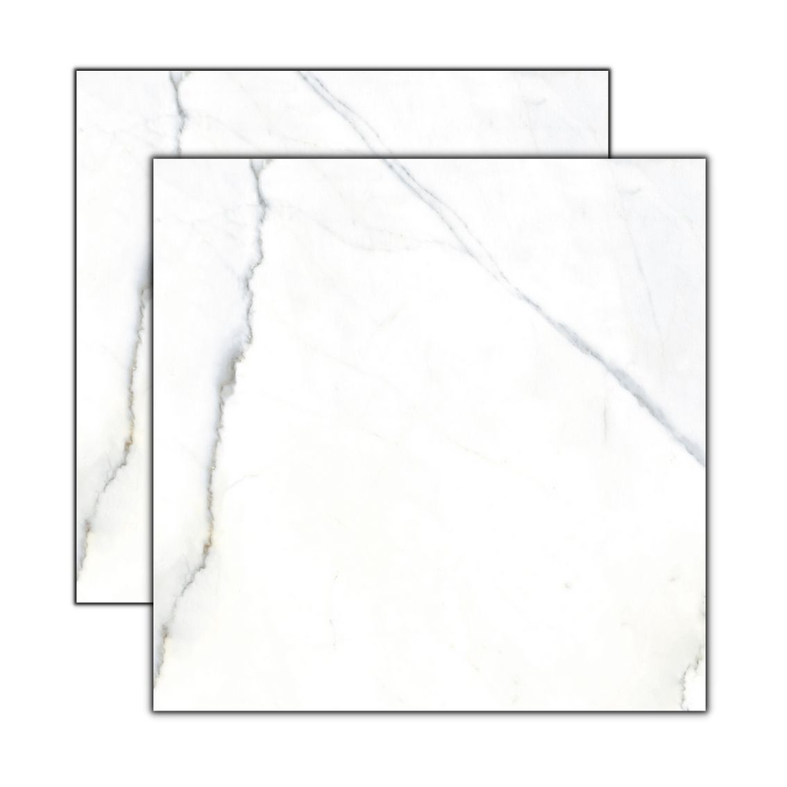 Calacata Ice In 84x84 cm <br /><b>R$ 69,90 M² </b><br />Cx 2,80 M² <b> R$ 195,72</b>