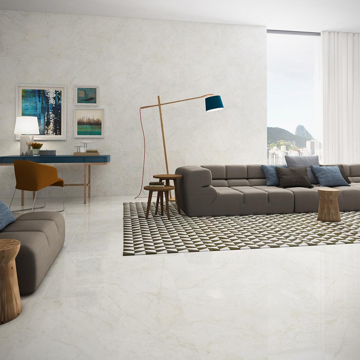 Marmo Egeo Lux Polido 82x82cm <br /><b>R$ 91,30 M²</b><br />Cx 2M² <b> R$ 182,60 M² </b>
