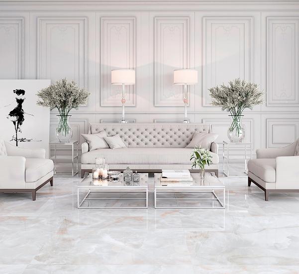 Onix Bianco Lux 90x90cm<br> <b>R$ 108,00 M²</b><br> Cx 2,40 M²  <b>&#10132; R$ 259,20</b>