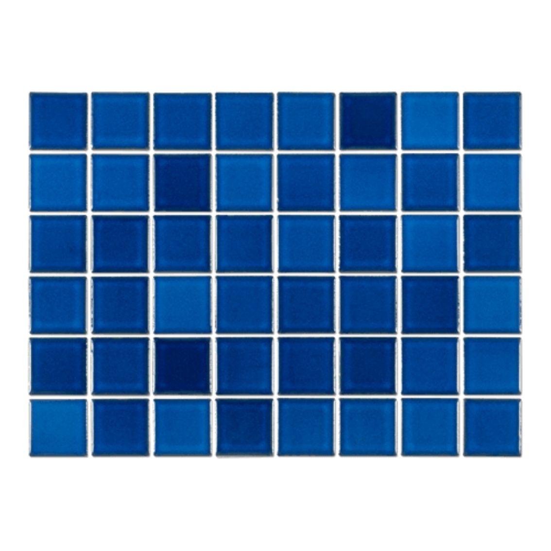 Pastilha Azul Asturias 5x5 cm <br /><b>R$ 135,00 M² </b><br />Cx 1,08 M² <b> R$ 145,80</b>