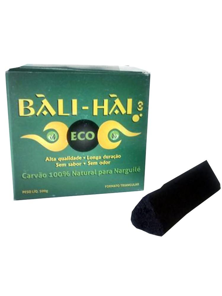 Carvão para Narguile Bali Hai ECO, vegetal, sem pólvora. - Caixa com 500gr