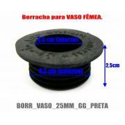 Borracha / Vedação para vasos GRANDES em latéx preta. 2,8cm altura. Diâmetros 4,5cm ext.X 3,5cm int.