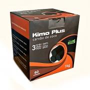 Carvão de coco KIMO PLUS JUMBO (extra-grande), formato HEXAGONAL, fabricado Turquia - caixa 1kg, à granel, 60 unid.