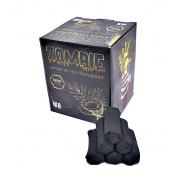 Carvão de coco para narguile e incenso ZOMBIE 1kg - 60 unid., formato HEXAGONAL.