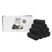 Carvão de coco para narguile e incenso ZOMO 1kg - 52 unid. formato HEXAGONAL.