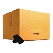 Carvão de coco KIMO PLUS JUMBO (extra-grande), formato HEXAGONAL, fabricado Turquia - caixa 10kg, à granel, 580 unid.