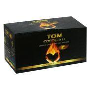 Carvão de coco TOM COCO, formato CÚBICO - caixa 250g, 16 unid.