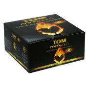 Carvão de coco TOM COCO, formato CÚBICO - caixa 500g, 32 unid.