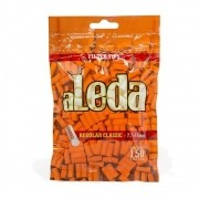Filtro ALEDA COM GOMA para cigarros tamanho REGULAR Classic 7,7 x 15mm. Pacote com 150 unid.