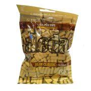 Filtro ALEDA ORGÂNICO para Cigarros. Tamanho Slim Classic 6 x 15MM. Pacote com 150 unid. Biodegradável.