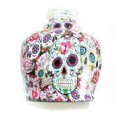 KIT COM: Vaso/base para narguile 13cm + Prato estrela, ambos edição especial CAVEIRA MEXICANA (LA CATRINA), Ranny.