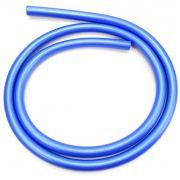 Mangueira p/narguile em silicone antichamas super flexível e leve. Encaixa todas as piteiras. 1,60m. Azul Escuro