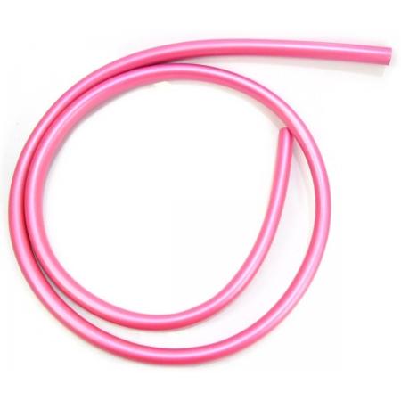 Mangueira p/narguile em silicone antichamas super flexível e leve. Encaixa todas as piteiras. 1,60m. Rosa Escuro (pink)