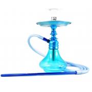 Narguile completo. Stem Malik Seth 35cm AZUL vaso Aladin azul, mangueira silicone, prato e piteira alumínio, rosh Fire.