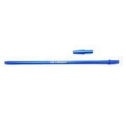 Piteira YES / MD HOOKAH p/mangueira de narguile (+contrapiteira). Em alumínio, 40cm, fina (slim). Azul Claro (azul bebê)