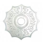 Prato para narguile marca MV P05 desenho TITAN 25cm em liga metálica inox e decorado. Cor PRATEADO.