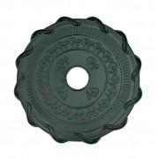 Prato para narguile marca MV P06 desenho ARABESCOS 25cm em liga metálica inox e decorado. Cor PRETO.