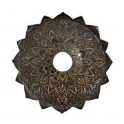 Prato para narguile mod. MALIK 22cm em liga metálica inox e decorado. Cor COBRE.