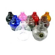 Vaso/base para narguile Luna Ball. 13cm altura e 3,8cm diâmetro de bocal. Encaixe macho (interno). Purple (lilás claro)