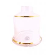 Vaso/base para narguile marca SHISHA GLASS modelo EVOLUTION Rosa listra prata