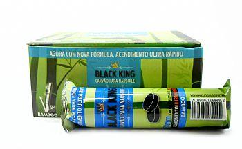 Carvão para Narguile de bambu Black King, 33mm (P) - CAIXA 100 unidades