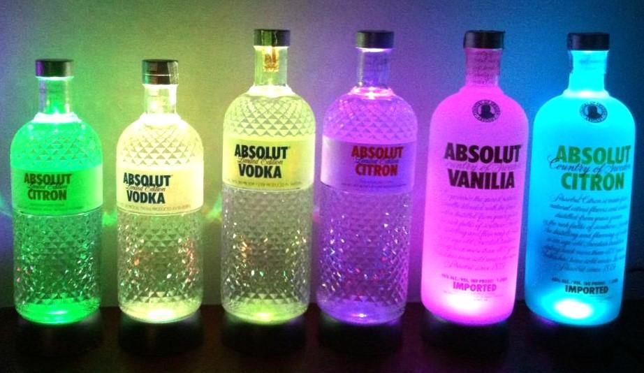 Base de LED pisca pisca para garrafa vaso Bolacha com