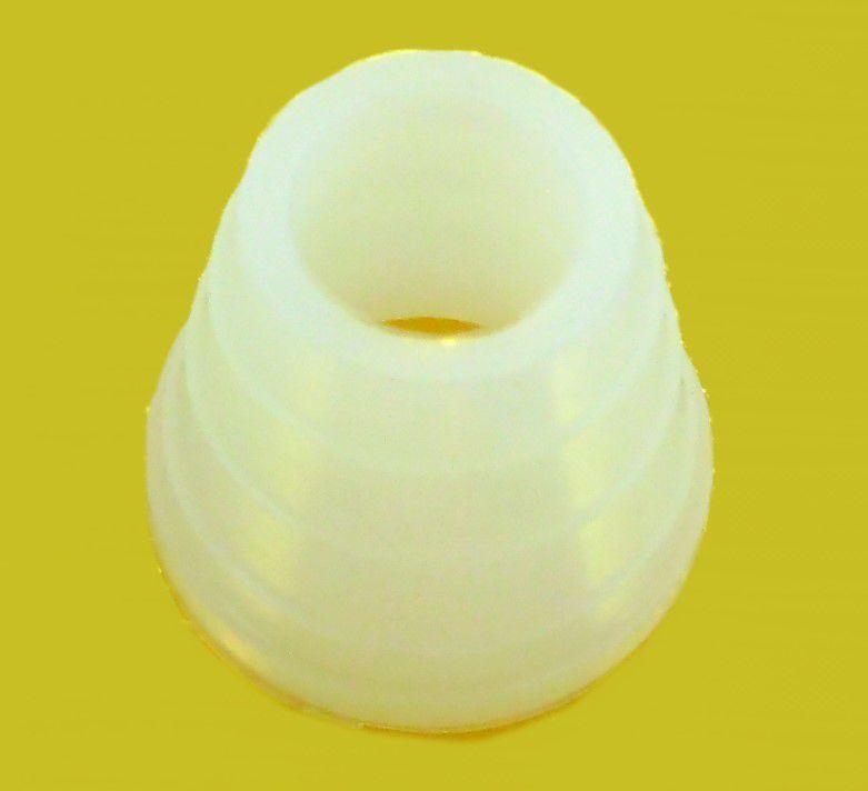 Borracha / Vedação para fornilho, 24mm de altura, EXTRA-GRANDE. Em silicone. - BORR_ROSH-MD_24MM_GG_BRANCA