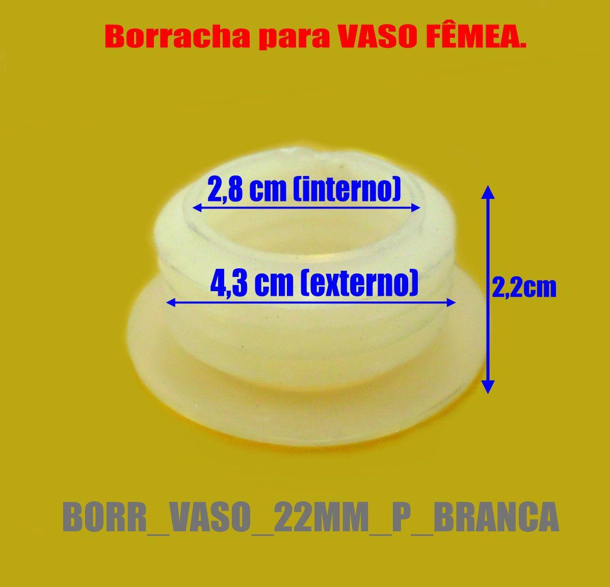 Borracha / Vedação para vaso pequeno a medio. Em silicone 22mm. - BORR_VASO_22MM_P_BRANCA