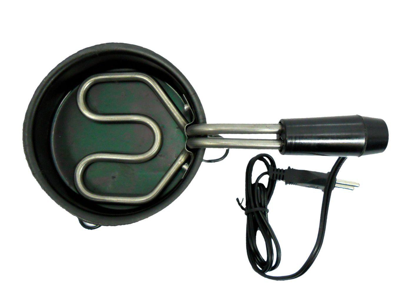 Fogareiro elétrico para acender carvão tipo panelinha MÉDIO, resistência blindada 400W(127V ou 220V)