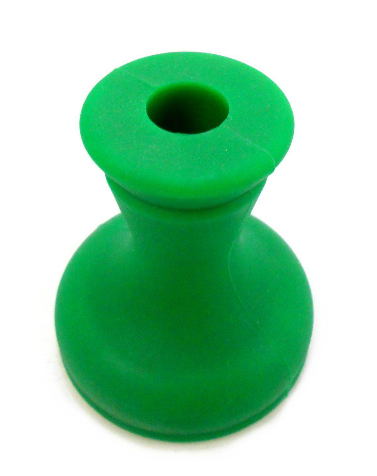 Fornilho/Rosh para narguile de silicone, tipo funil, 7cm de diâmetro. Ideal p/ Kaloud. Verde.