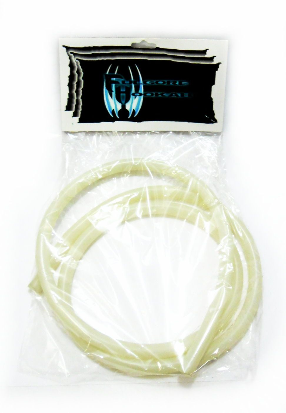 Mangueira p/narguile FLUORESCENTE silicone antichamas BRANCO NEON( brilha no escuro)1,60m s/piteiras