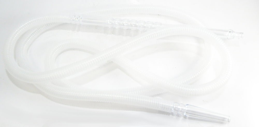 Mangueira p/narguile lavável MD HOSE Mundial, grossa, em plástico corrugado semitransparente. 2,20m.
