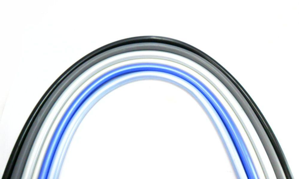 Mangueira p/narguile em silicone antichamas super flexível e leve. Encaixa todas as piteiras. 1,60m.