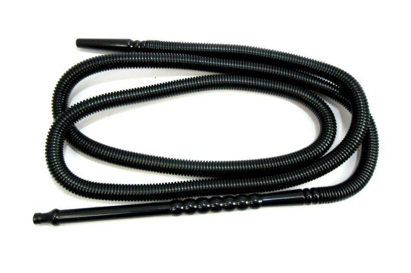 Mangueira p/narguile  lavável MD HOSE BLACK marca Mundial, grossa, plástico corrugado preto. 2,20m.