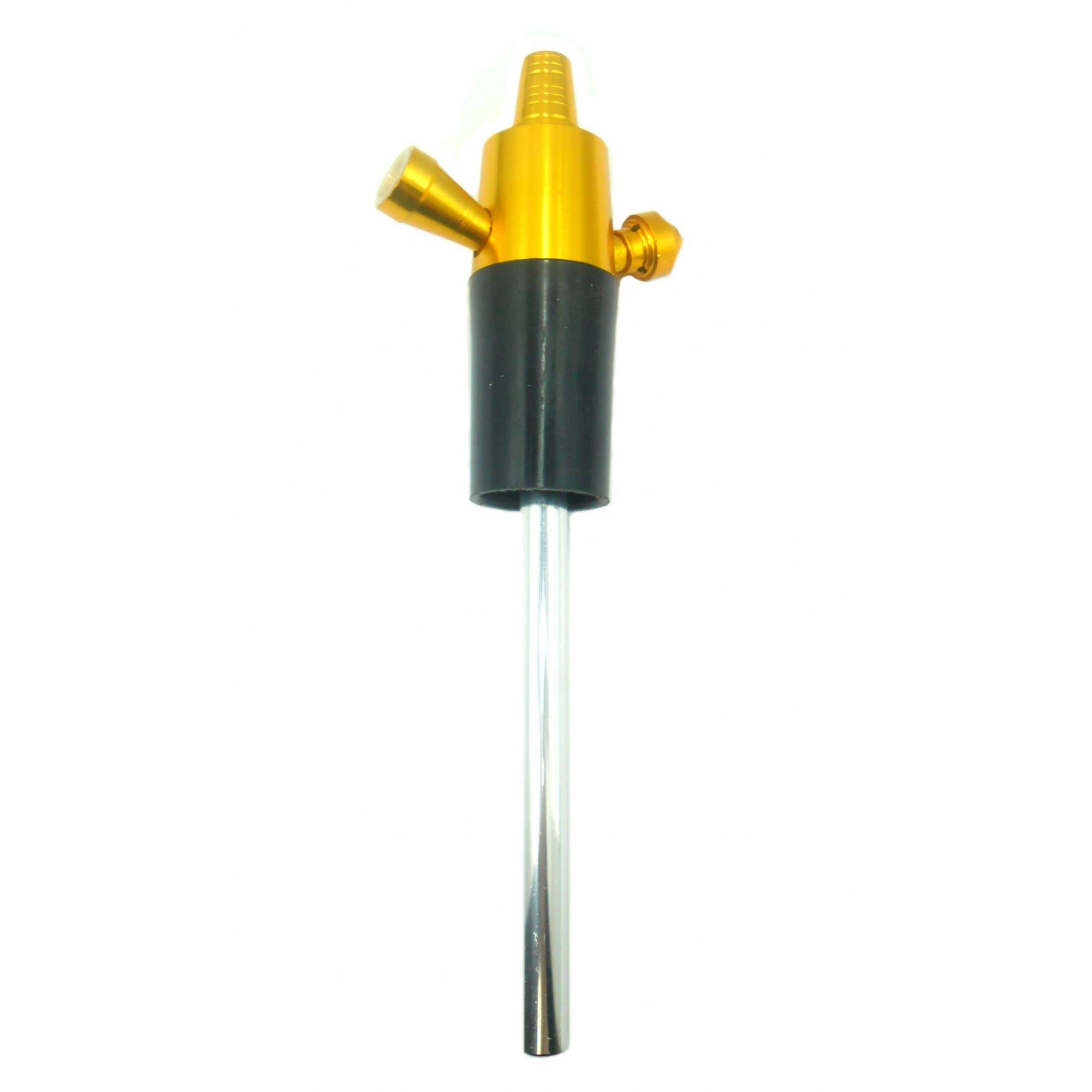Stem (corpo de narguile) em alumínio marca NEW p/NARGUILE DE GARRAFA + Downstem (tubo interno). 26cm