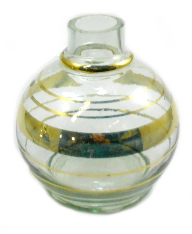 Vaso/base para narguile Monte Verde (13cm), modelo BALL. Encaixe macho (interno).