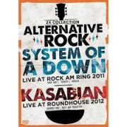 ALTERNATIVE ROCK VOL 3 SYSTEM OF A DOWN LIVE AT ROCK AM RING 2011 E KASABIAN LIVE AT ROUNDHOUSE 2012 - DVD NACIONAL