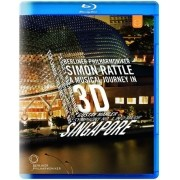 Berliner Philharmoniker Singapure - Simon Rattle - A Musical Journey in 3D - Blu ray Importado